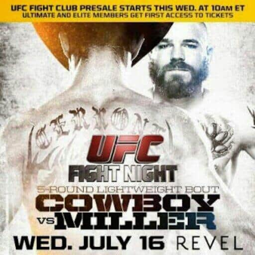 UFC Fight Night: Cowboy vs. Miller 1