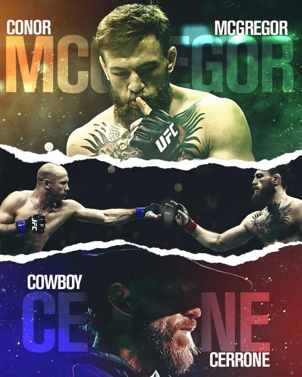 McGregor vs Cerrone: dove vederlo, a che ora... TUTTO quello che devi sapere 6