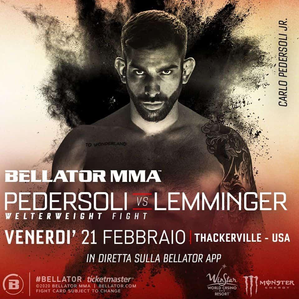 Abbiamo la data del debutto di Pedersoli in Bellator 1