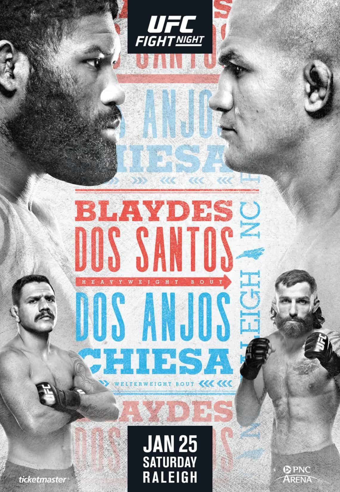 Risultati UFC Fight Night: Blaydes vs. dos Santos 1