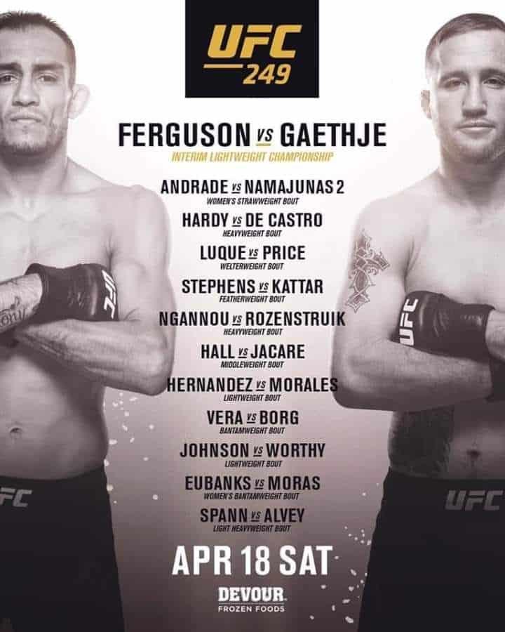 L'UFC 249 si farà e l'UFC riprende con gli eventi... su un'isola privata 2