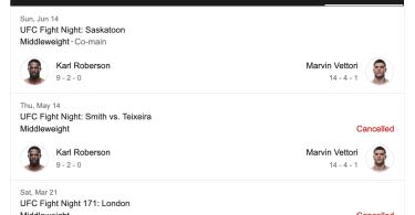 Marvin Vettori nel Main event di sabato 13