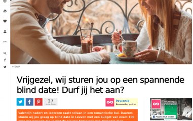 Durf jij een blind date aan?