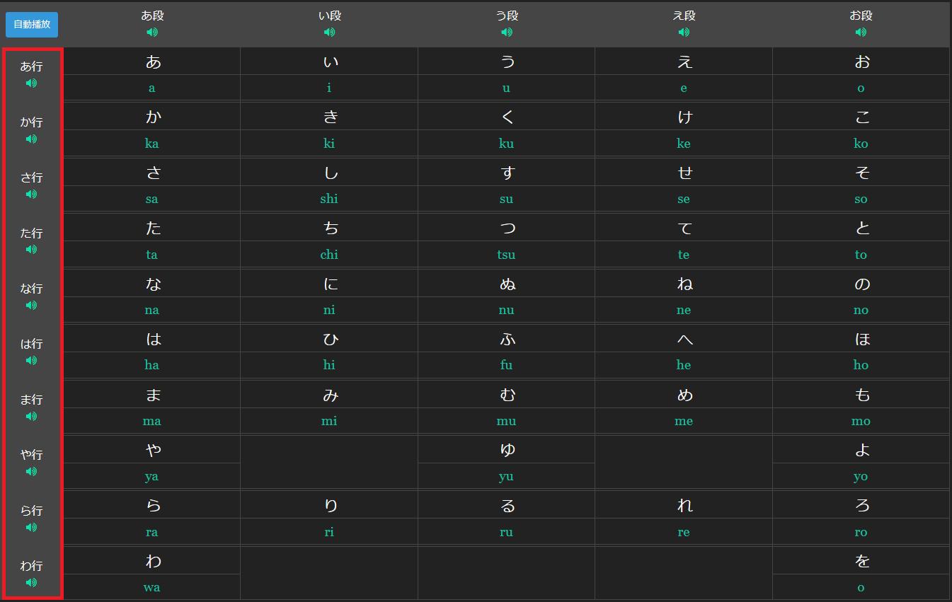 marumaru hiragana row