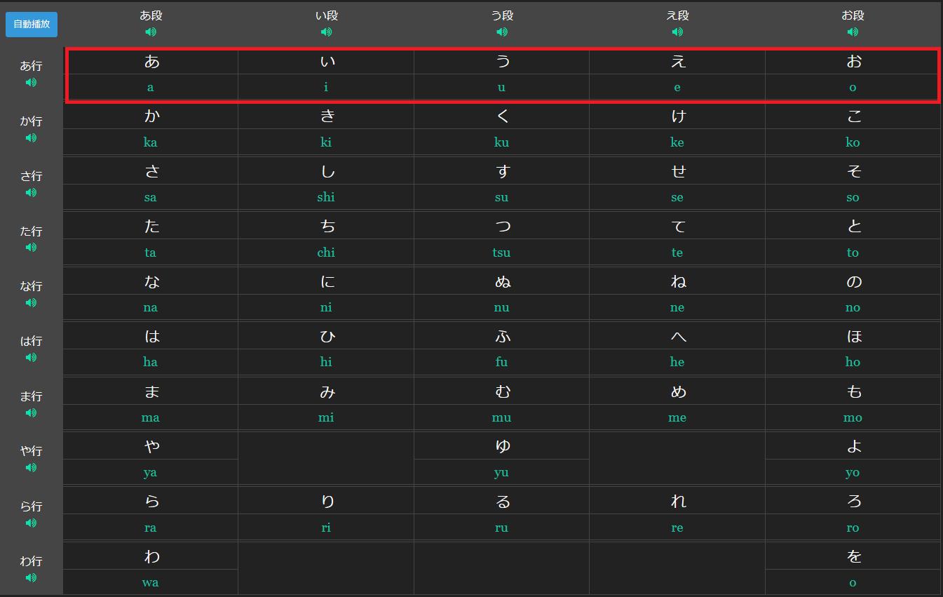marumaru hiragana a row