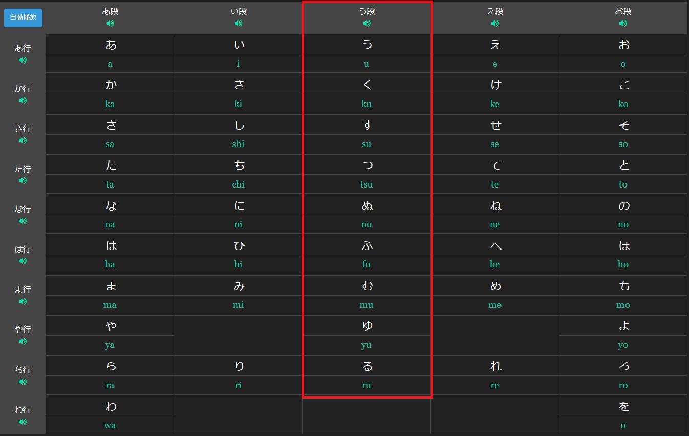 marumaru hiragana u section