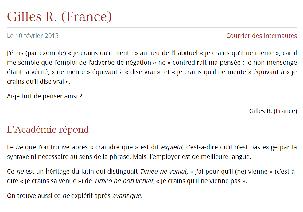 Learn How To Use Le Ne Expletif To Express Negative Ideas In French The Glossika Blog