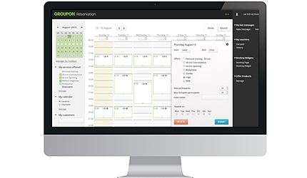Groupon Booking Tool Dashboard