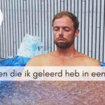 3 dingen die ik geleerd heb in een ijsbad