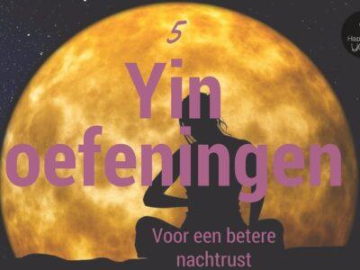 yin yoga oefeningen om lekker te slapen