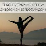 Teacher Training deel V: Mentoren en beproevingen IV