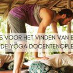 Tips voor het vinden van een erkende Yoga docentenopleiding