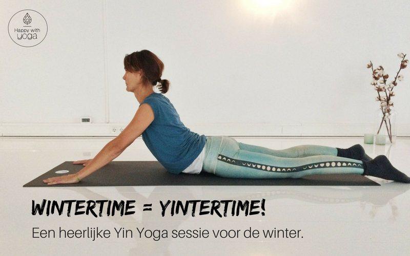 yin yoga sessie voor de winter
