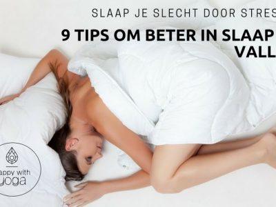 slecht slapen door stress