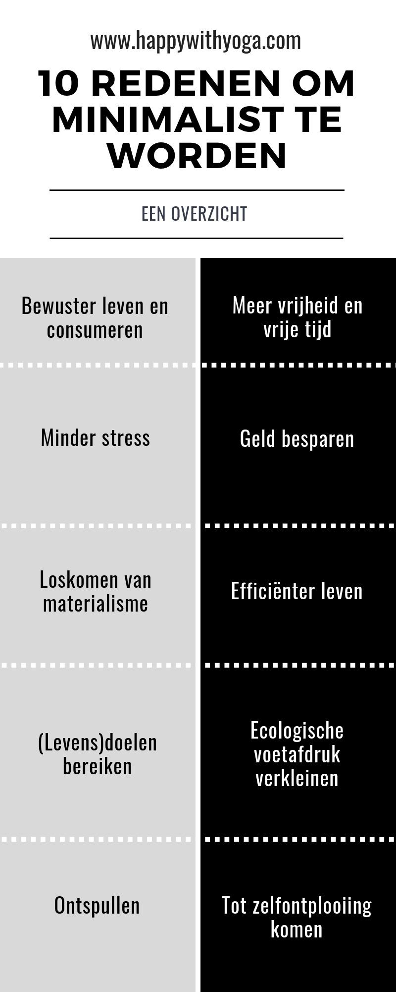 minimalisme infographic