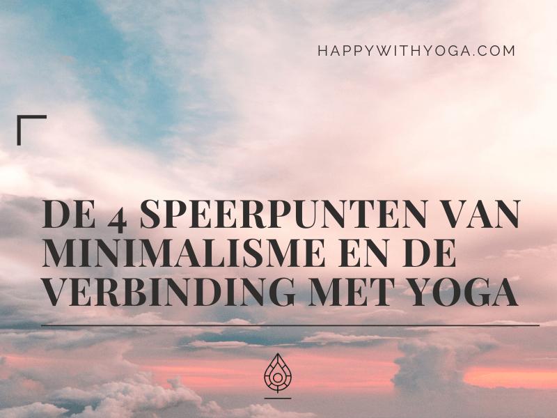 minimalisme yoga