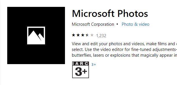 Microsoft Photos App not working?