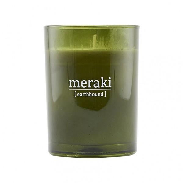 Duftkerze Earthbound - 8x10,5 cm, grünes Glas