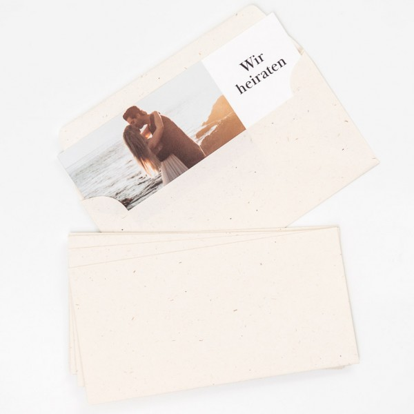 Briefumschläge - DIN lang, Terra Vanilla