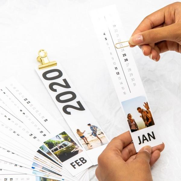 Fotostreifen Kalender - 4x20 cm, mit Magnetclip
