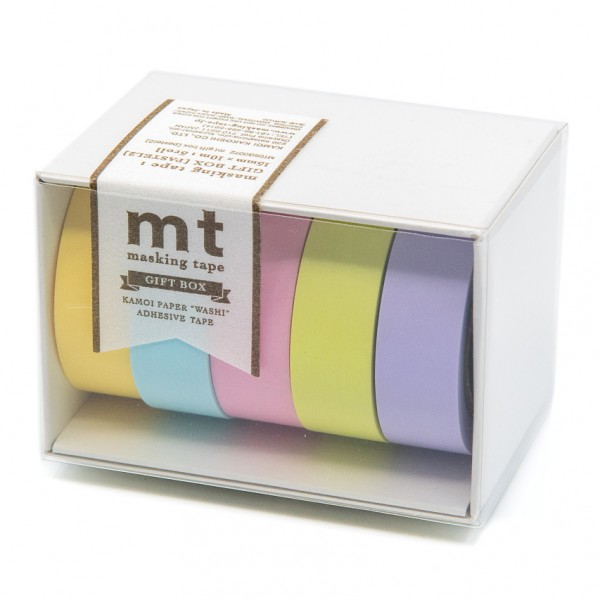 Masking Tape PASTEL - 5er Set, Pastelltöne, Washi