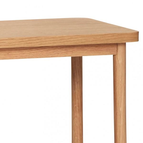 Ablagetisch - mit 2 Ablagen, Holz (Eiche)