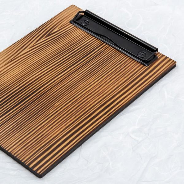 Clipboard - für Format DIN A5, Lärche geflammt