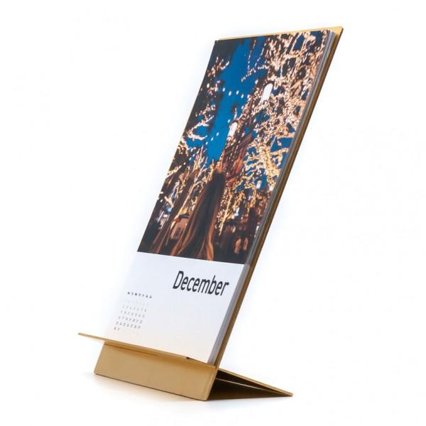 Aufsteller - für Format DIN A5, Metall, gold