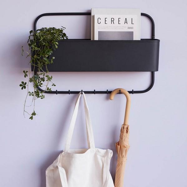 Garderobe - mit Aufbewahrungsfach, Metall