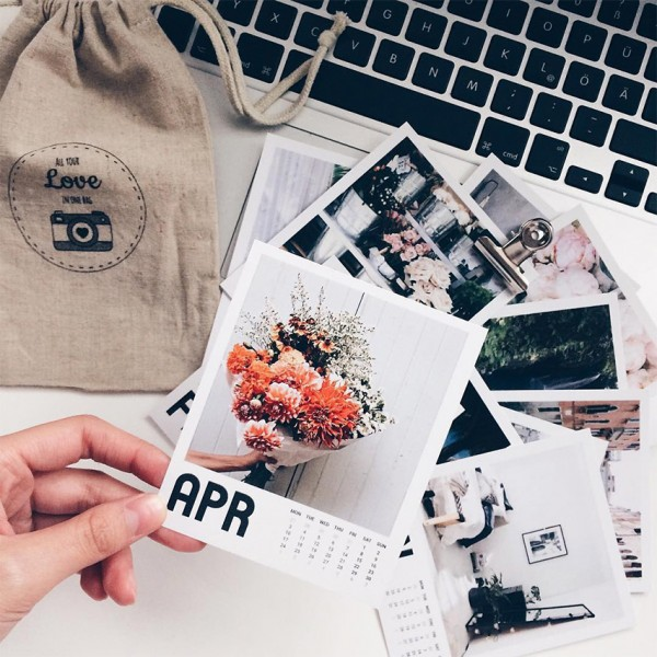 Polaroid Bilder Kalender