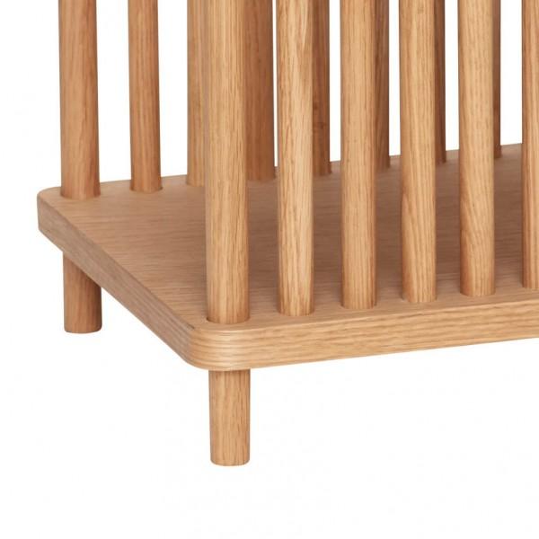 Ablagetisch - mit Streben, Holz (Eiche)