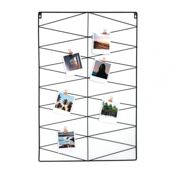 Fotogitter - Zickzack Design, rechteckig, Metall, schwarz