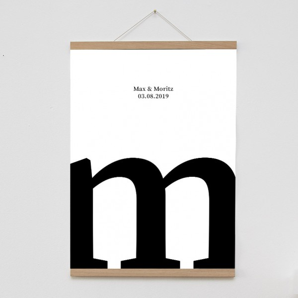 Letter Poster - DIN A2, Naturpapier