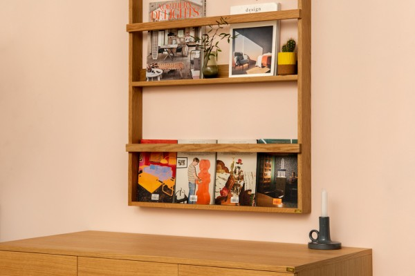 Magazine Shelf Wood