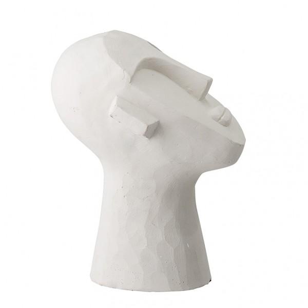 Design Deko Gesicht - Zement, weiß