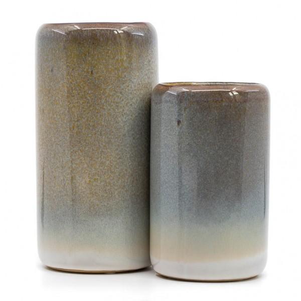 Vasen - 2er Set, Zylinderform, Keramik