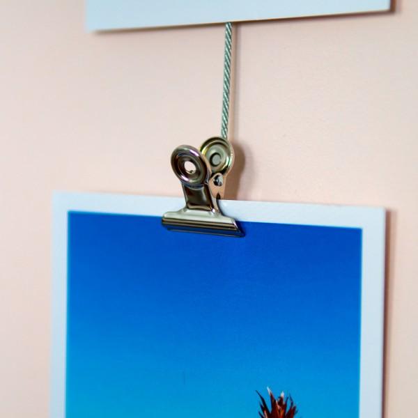 Fotoleine Clips - Magnetseil inkl. 8 Magnet-Clips