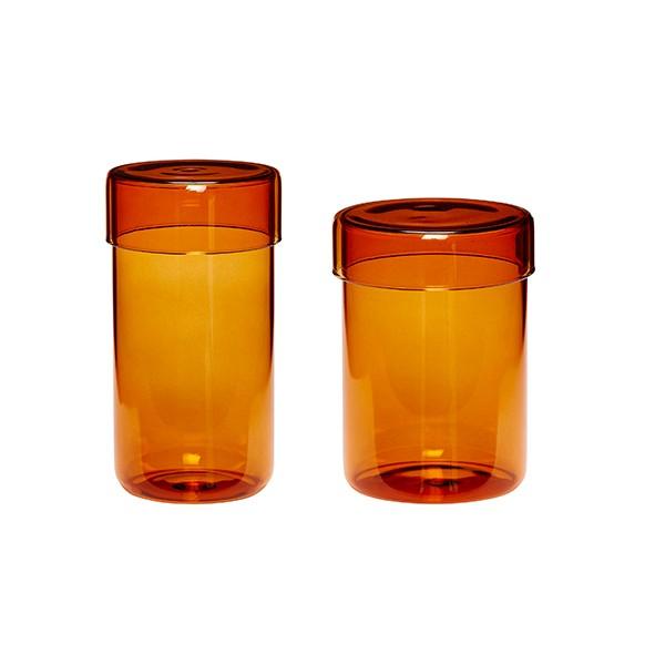 Vorratsglas - 2er Set, mit Deckel, versch. Farben