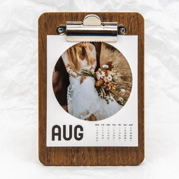 Retropix Kalender Rund mit Clipboard