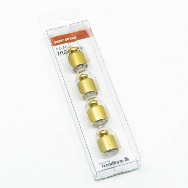 Magnete Balance - 4er Set, Gewichte, Neodym, gold