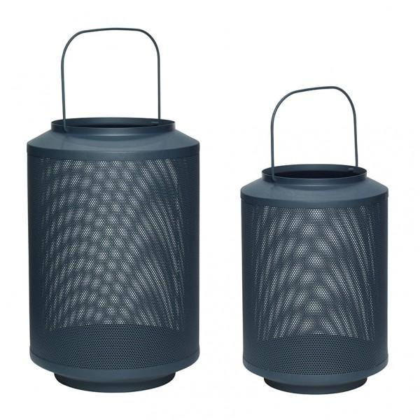 Laternen - 2er Set, Metall, dunkelgrün