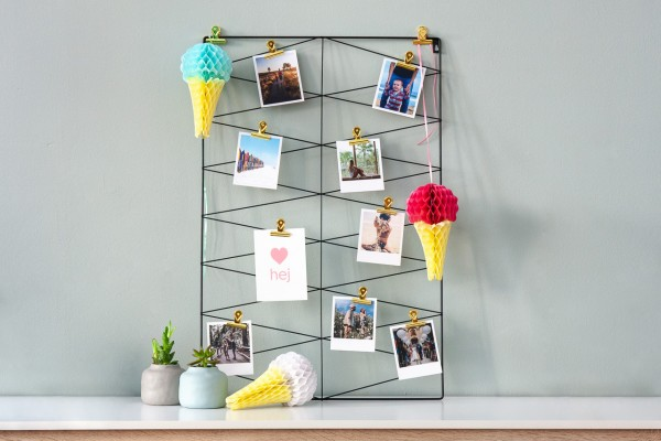 Papierdeko Eistüten - 3er Set, Honeycomb Stil