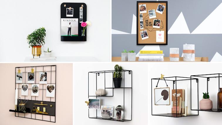 flur-deko-ideen-dekorieren-gestalten-flurgestaltung-memoboards-wandregale