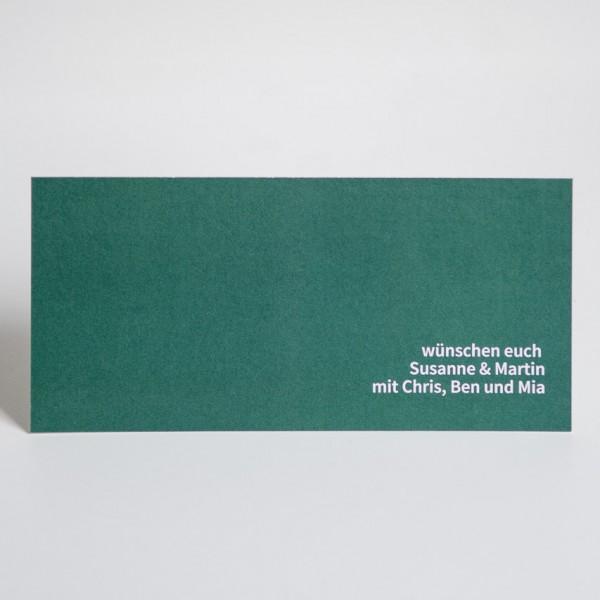 Grußkarte - DIN Lang quer, 1 Bild links