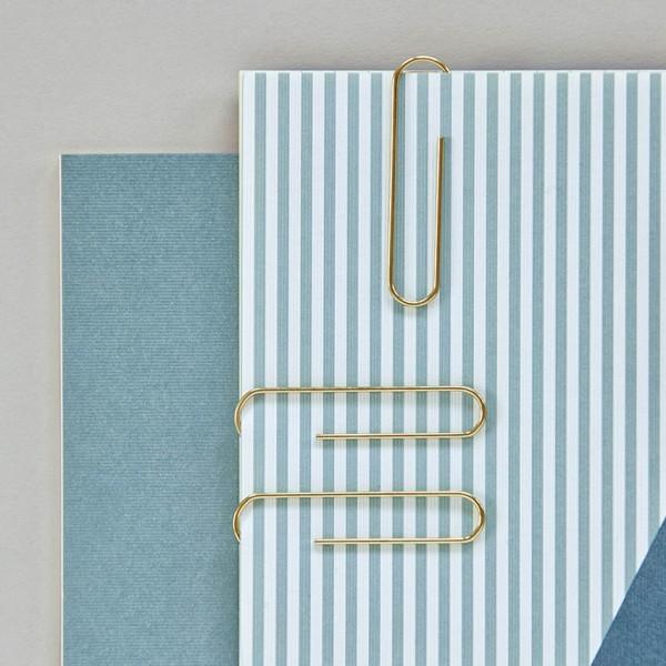 Büroklammern - 30er Set, klassisch, gold