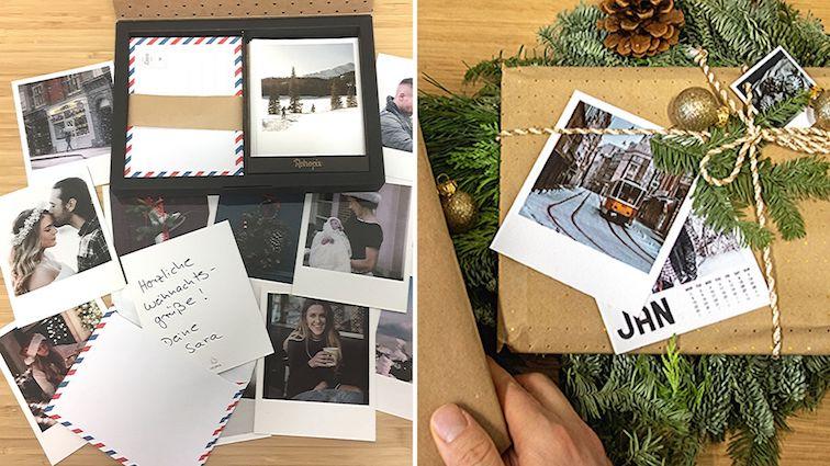 Weihnachtskarte-selbst-gestalten-Polaroid-bilder-geschenkanh-nger