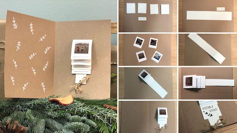 Weihnachtskarten-Waterfall-card-gestalten-polaroid-bilder