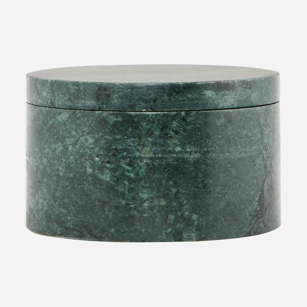 Dose - mit Deckel, Marmor, grün od. weiß
