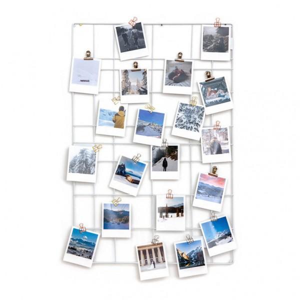 Set Wandgitter und Polaroid Bilder