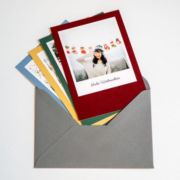 Grußkarte - DIN A6 hoch, 1 Bild mittig